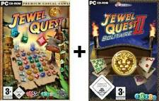 JEWEL QUEST BUNDLE 1 + 2 SOLITAIRE * DEUTSCH **Top Zustand