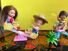 Mattel Barbi's Kelly & Tommy  Dolls With Accessories