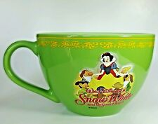 Disney Store Snow White and the Seven Dwarfs Large Coffee Soup Mug Cup Green