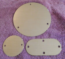BRASS Point, Derby, Inspection cover SET. plain and polished