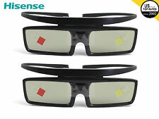 2X Hisense 3D Active Shutter Glasses For Samsung 4K HD UHD SSG-5150GB SSG-5100GB