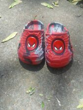Marvel Spiderman clogs/ crocs slip on shoes red toddler sz.5 pool beach comic