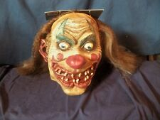 ADULT CARNIVAL DRIFTER CLOWN CRAZY INSANE EVIL SCARY MASK COSTUME MR031212