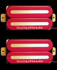 Guitar Parts GUITARHEADS PICKUPS MEGAMETAL HUMBUCKER - Bridge Neck SET 2 - RED