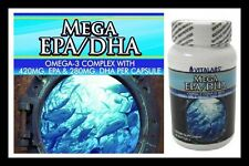 EPA DHA Omega-3 1000mg Triple Strength Fish Oil 120 Healthy Heart Joints Bones