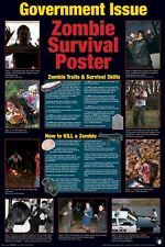 ZOMBIE POSTER ~ GOVERNMENT ISSUE SURVIVAL GUIDE 24x36 Zombies Walking Dead