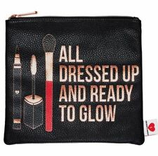"SEPHORA ALL DRESSED UP AND READY TO GLOW BREAKUPS TO MAKEUP BAG 9"" X 8"" NWT"