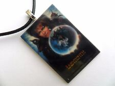 David Bowie LABYRINTH Film Poster  Pendant Leather Necklace  Carded
