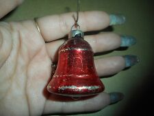 Vintage Bulb Christmas Ornament Red Bell