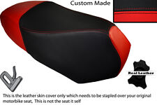 BRIGHT RED & BLACK CUSTOM FITS BENELLI VELVET 125 08-13 DUAL LEATHER SEAT COVER