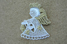 Lace motif - Christmas - Angel - applique/sew on trim/craft/card making