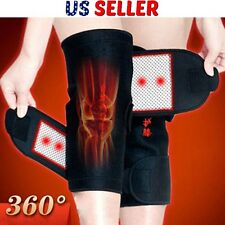 1Pair Magnetic Heating Therapy Knee Brace Support Protection Belt Adjustabl