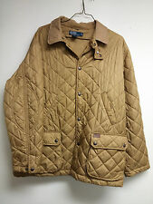 Polo RALPH LAUREN Camel Tan Quilted Corduroy Collar Puffer Coat Barn Jacket XL