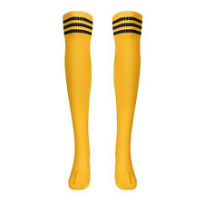 Women Girl Sport Socks Retro Knee Tube Thigh High Socks Over Knee Football Socks