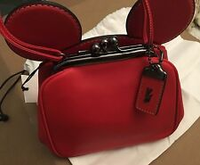 NWT Disney X Coach Limited Edition Mickey Mouse Kisslock Bag Red *Last One*