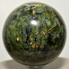 "2"" Green Nephrite Sphere Natural ""Inca Jade"" Crystal Polished Stone Ball - Peru"