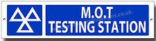 M.O.T TESTING STATION  METAL SIGN.MOT SIGNS,GARAGE,WORKSHOP.