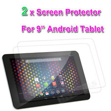 "2 x CLEAR SCREEN PROTECTOR FOR 9"" inch ANDROID 4.0 TABLET PC ALL WINNER A13"
