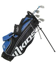 MKids Pro Junior Childrens Golf Package Half Set Left Hand Blue 10-12 Age Kids