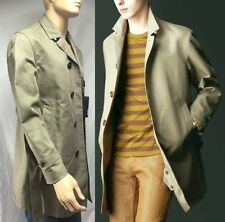 $2,695 RUNWAY Burberry Prorsum 38 48 Men Cotton Linen Trench Coat Holiday Gift A