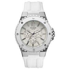 BNEW Guess Men's Overdrive White Chronograph Watch