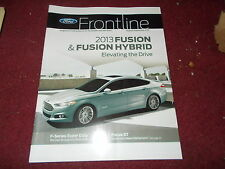 2013 FORD FUSION AND HYBRID FRONTLINE DEALER ONLY MAGAZINE BROCHURE RARE