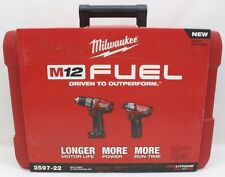 Milwaukee 2597-22  M12 12V M12 Fuel 2 Tool Combo Kit -Hammer Drill Impact Driver