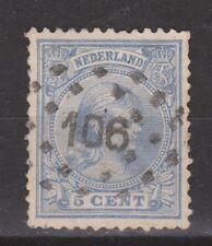 NVPH Netherlands Nederland 35 used CANCEL TILBURG (106) Wilhelmina 1891-1894