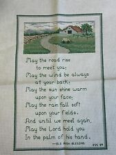 Completed Irish Blessing Sampler Cross Stitch May The Road Rise....