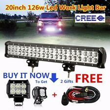 20 inch CREE Led Light Bar + 2X 4inch CREE Pods Off road Pickup Heavy Duty Truck