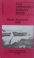 Old Ordnance Survey Map North Woolwich & Woolwich High St London 1853 &1869 S81