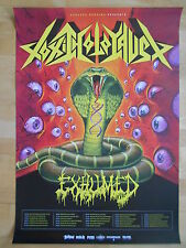 Toxic Holocaust-Exhumed 2013 Tour-ORIG. Concert-CONCERTO-POSTER-MANIFESTO NUOVO