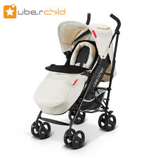 Uberchild MOOV+ Stroller - BLACK AND CHAMPAGNE + Lots of Extras + Freepost