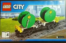 Lego City Cable Drum Reel Wagon Railway Carriage - split from set 60052 - NO BOX