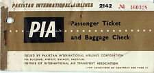 PIA Pakistan Internation Airline Ticket 1964 Airline Ticket VERY RARE..