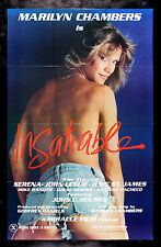 INSATIABLE * CineMasterpieces ORIGINAL ADULT MARILYN CHAMBERS MOVIE POSTER 1980