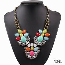 vintage gold chain sexy colorful resin pendant necklace for women cheap jewelry