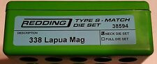 38594 REDDING TYPE-S MATCH BUSHING NECK DIE SET - 338 LAPUA MAG - BRAND NEW
