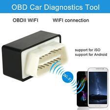 Car WiFi OBD-II Diagnostic Scanner Tool Code Reader for Smart Phone Black U4UF