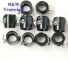 AN - 6 AN6  Fuel Hose Clamp Finisher HEX Finishers HEX-6 Aluminum black 10pcs