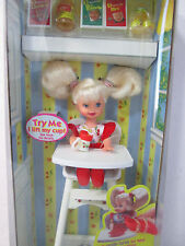 Eatin' Fun Kelly in High Chair Baby Sister of Barbie Doll 1997 18582