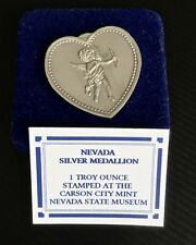 "Heart Shaped Silver Medallion w/Cupid ""Especially For You"" Gsm .999 1 oz in Box"