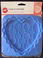 NEW Wilton HEART Candy & Craft Mold, Silicone, Anniversary, Mother's Day