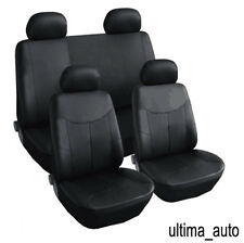8 PCS FULL SET BLACK LEATHER LOOK SEAT COVERS FOR PEUGEOT 206 207 307 308 407