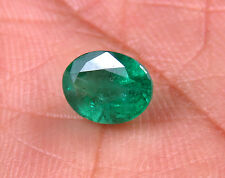 1.64 CTS 100% Certified Natural Zambian Emerald Oval Loose Video Inside GEM EDH