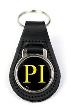 Triumph PI Logo Quality Black Leather Keyring