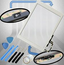 Apple iPad Air 1 Digitizer weiß Display Glas Touchscreen + Homebutton+Klebepads