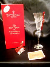 Waterford Crystal Flute 12 Days of Christmas 1st Ed. Partridge in a Pear Tree