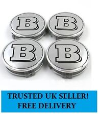 Set of Mercedes Brabus 75mm Centre Caps Alloy Wheel Hub Stickers Badges Emblems