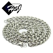 "24""MEN Stainless Steel HEAVY WIDE 12mm Silver Cuban Curb Chain Necklace Bracelet"
